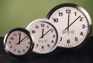 Analogue radio controlled wall clocks