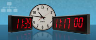 Synchronised Large Digital Wall Clocks