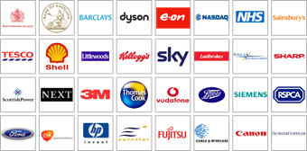 Graphic displaying the logos of companies using Galleon products