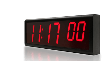 digital ethernet wall clock