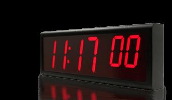 Cyfrowy zegar ścienny ethernet