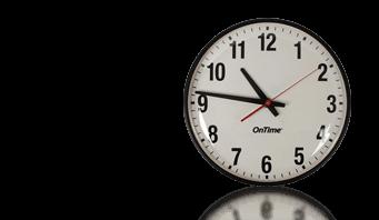 poe reloj de pared analógico