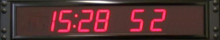 Rackmount digital clock