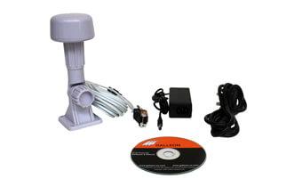 lo que se suministra con el receptor de tiempo AC-500-GPS