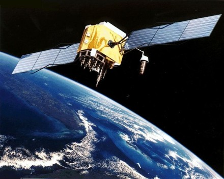 Satellite Picture | A GPS Satellite in Orbit above Earth