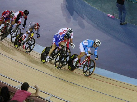 Cycling Action in the Velodrome, Marc, 2012, Flickr