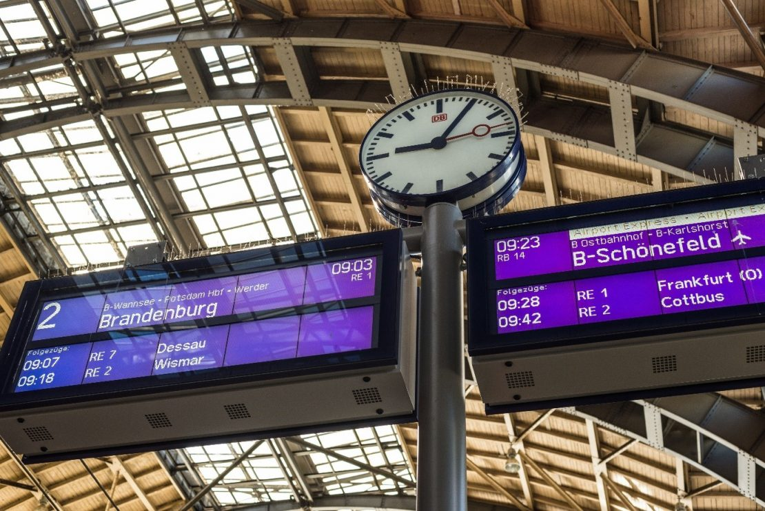 What Is NTP? Precise time at a train station.
